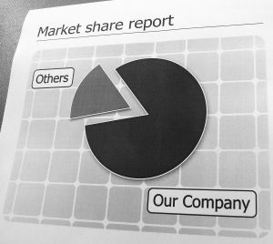 Market share pie chart of companies (Sxc.hu)