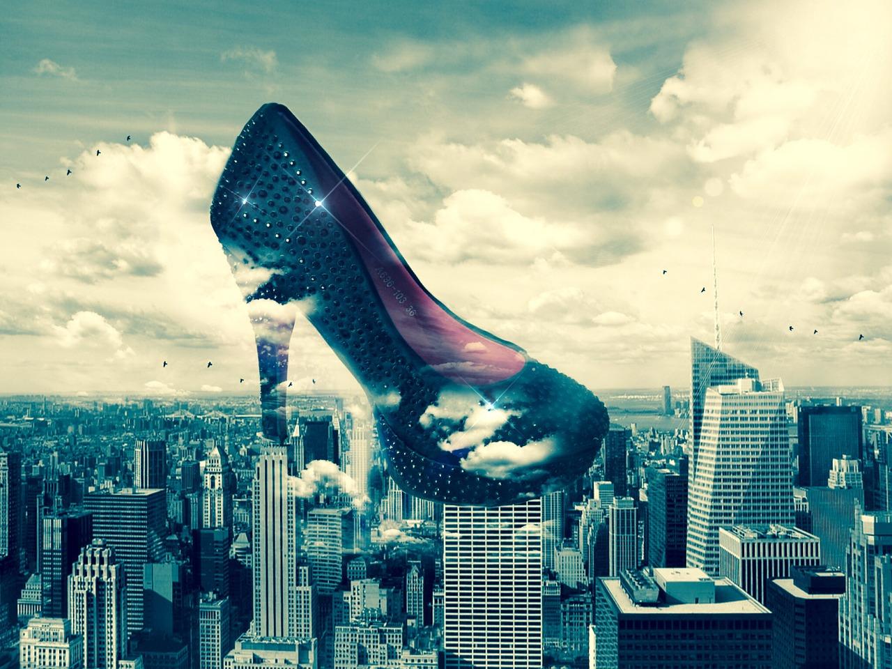 City pumps highheels, shoe, clouds