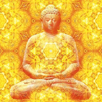 'Harmony' (Buddha) - psychedelic shamanic visionary art by Nisvan