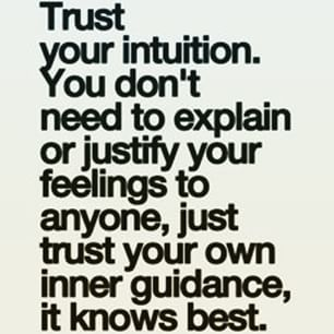 Trust your intuition - no need to explain yourself!